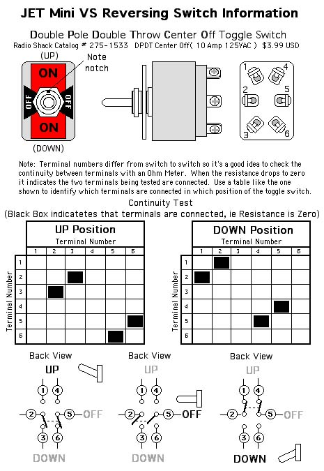Radio Shack Dpdt Toggle Switch Wiring Diagram - Example Electrical ...